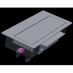 Mediaport Bachmann Top Frame 4 x 230V, z ramką asymetryczną