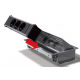 Bachmann Coni, 2x 230V + 2x RJ45 + HDMI + RCA + VGA + mini jack, srebrno-szary