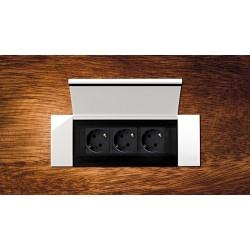 Bachmann Power Frame Cover biały - Gniazdko blatowe