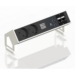Bachmann Desk 2 biały - Listwa nablatowa do biura