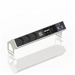 Bachmann Desk2 biały - Multimedialny mediaport do biura