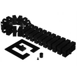 Kręgosłup kablowy Bachmann Quadro-Set, czarny