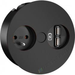 Bachmann TWIST 230 V Black z ładowarką 2 x USB Charger