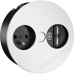 Bachmann TWIST 230 V White z ładowarką 2 x USB Charger