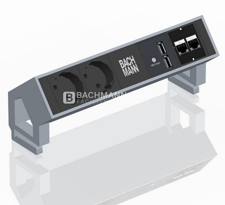 bachmann desk 2 inox listwa nablatowa do biura. Black Bedroom Furniture Sets. Home Design Ideas